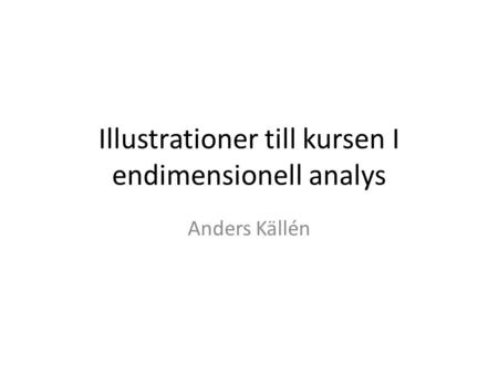 Illustrationer till kursen I endimensionell analys