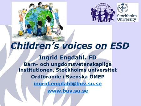 Children's voices on ESD