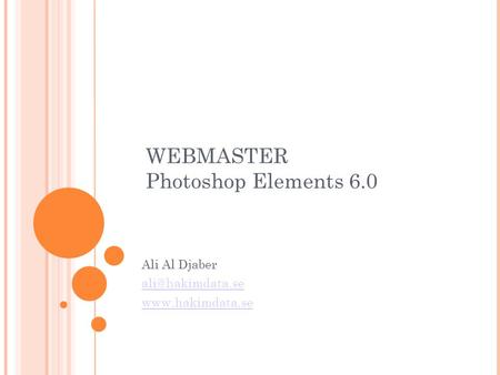 WEBMASTER Photoshop Elements 6.0 Ali Al Djaber
