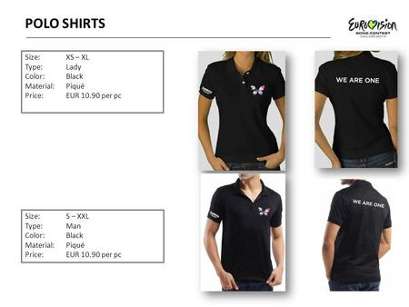 POLO SHIRTS Size: XS – XL Type: Lady Color: Black Material: Piqué