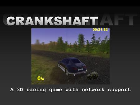 A 3D racing game with network support. Team •Jonas Gustafsson •Lin Loi •Fredrik Norén •Michael Sandén •Patrik Sjölin.