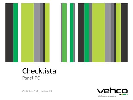 Checklista Panel-PC Co-Driver 3.0, version 1.1.