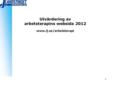 arbetsterapins websida 2012