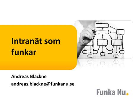 Intranät som funkar Andreas Blackne