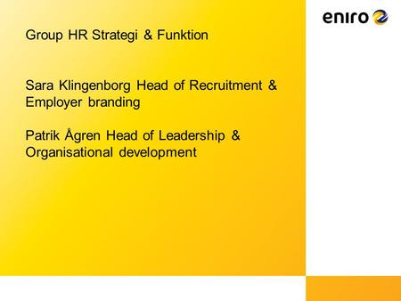Group HR Strategi & Funktion