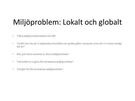 Globalt miljøproblem