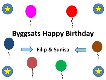 Byggsats Happy Birthday