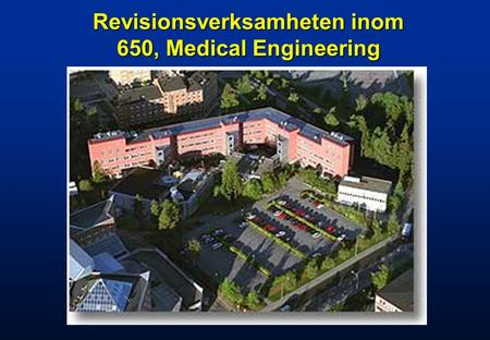 Revisionsverksamheten inom 650, Medical Engineering.
