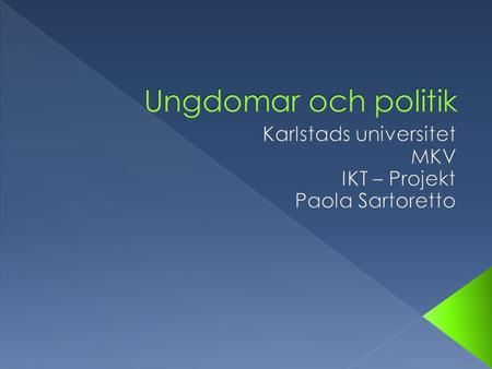 Är unga engagerade eller oengagerade i politik?  Lance Bennett  Center for Communication and Civic Engagement  shington.edu/