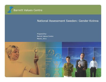 National Assessment Sweden: Gender Kvinna Prepared by: Barrett Values Centre March, 2011.