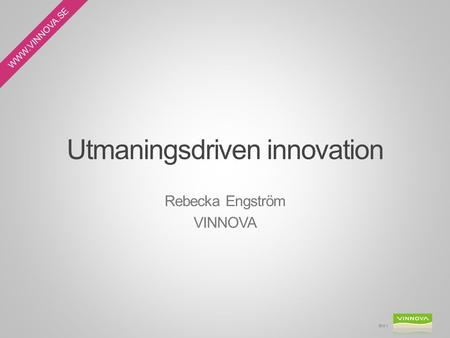 Utmaningsdriven innovation