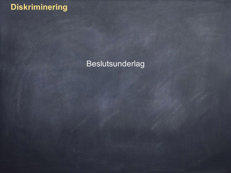 Diskriminering Förstudie Starta ett projekt (enligt vilken projektmetodik ska vi jobba?)