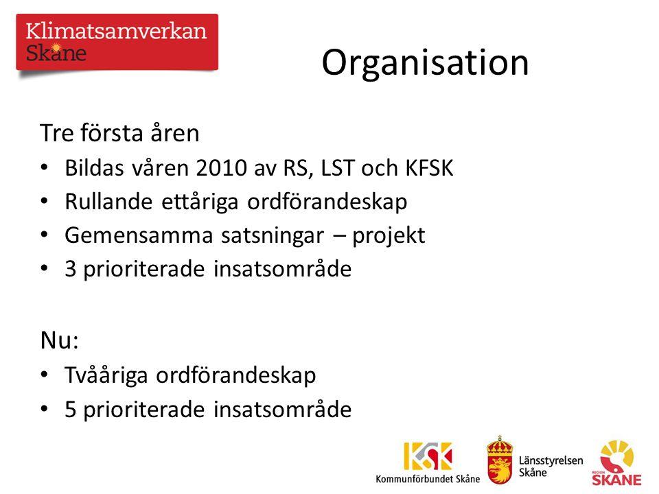 Målet är att Klimatsamverkan Skåne ska vara Klimatsamverkan Skåne arbetar för att Skåne ska nå de regionala klimatmålen och för ett 100 % fossilbränslefritt Skåne 2020.