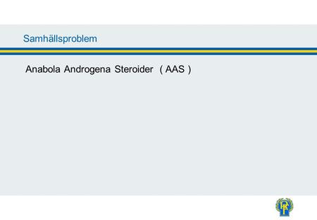 Information Anabola Androgena Steroider ( AAS )