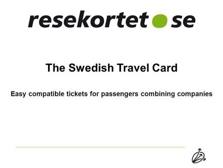 The Swedish Travel Card