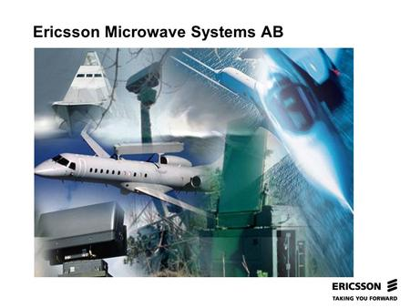 Slide title In CAPITALS 50 pt Slide subtitle 32 pt Ericsson Microwave Systems AB.