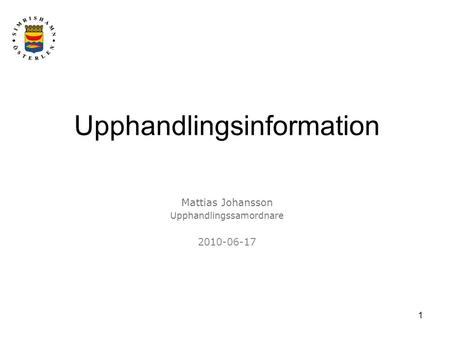 Upphandlingsinformation