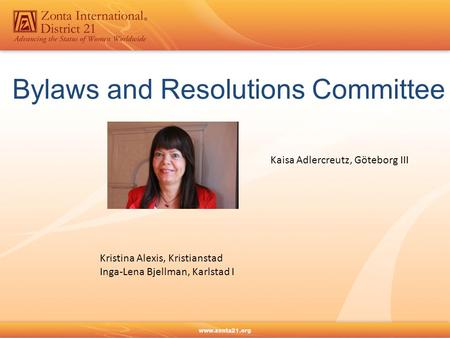 Bylaws and Resolutions Committee