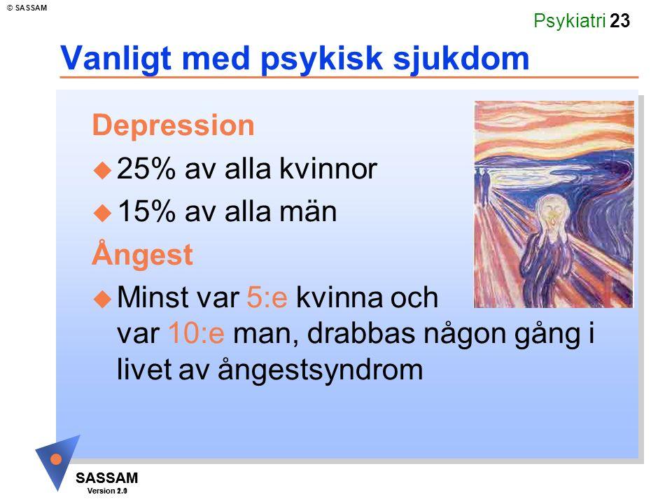 Vanligt med psykisk sjukdom