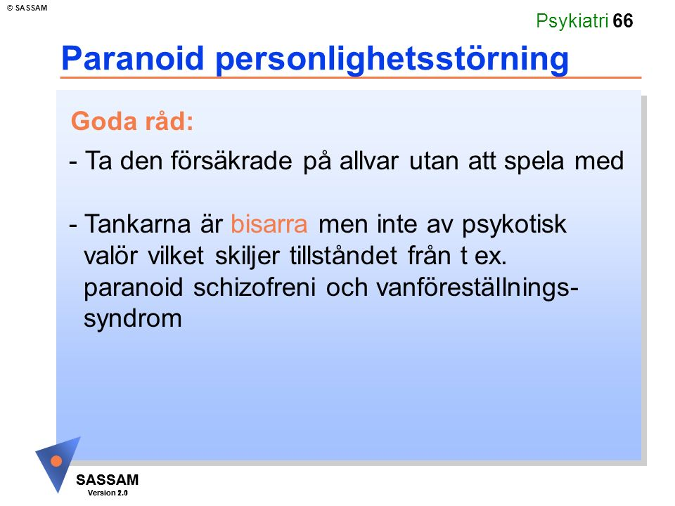 Paranoid personlighetsstörning