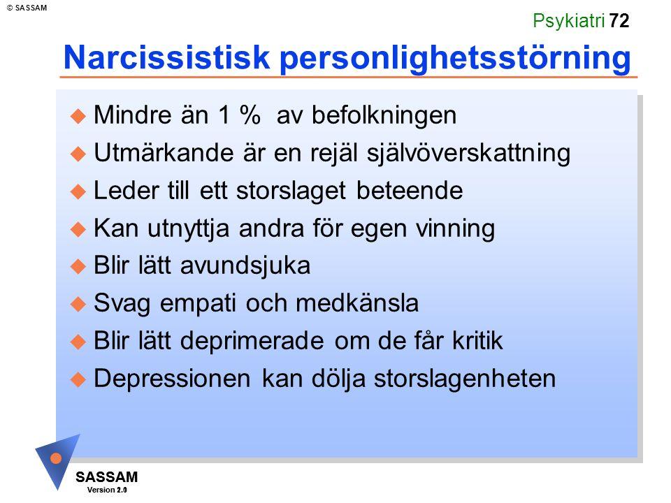 Narcissistisk personlighetsstörning