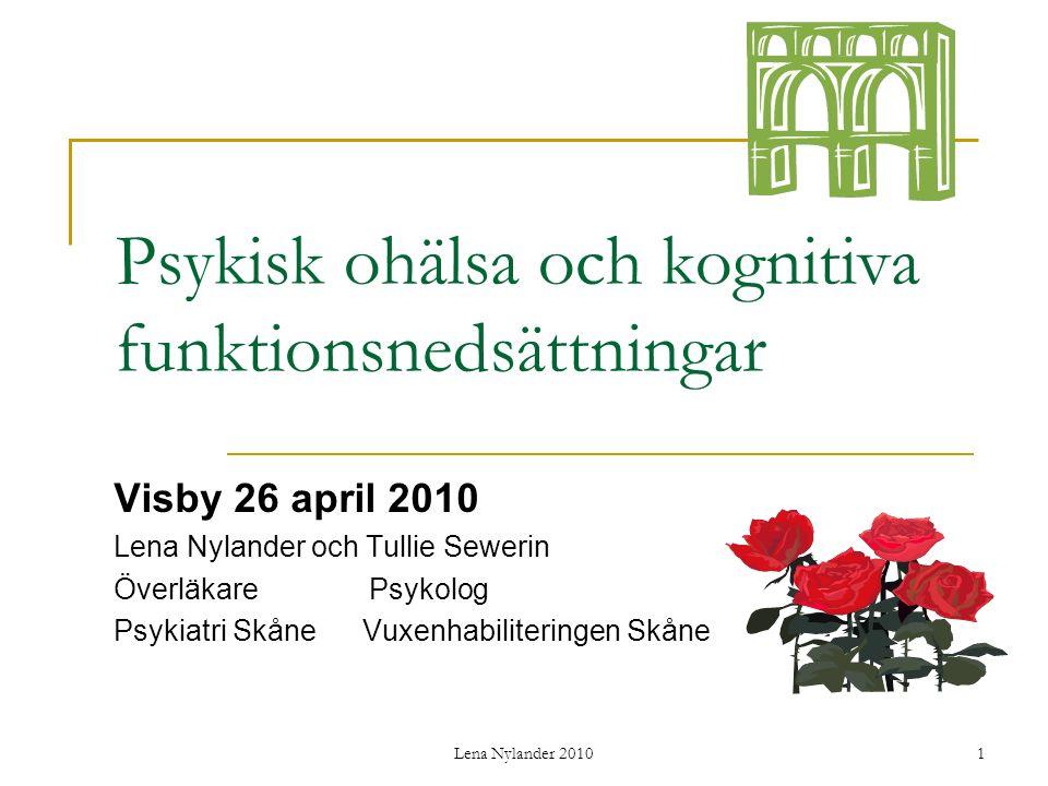 Psykisk ohälsa och kognitiva funktionsnedsättningar