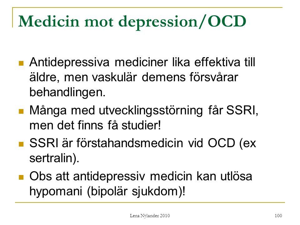 Medicin mot depression/OCD