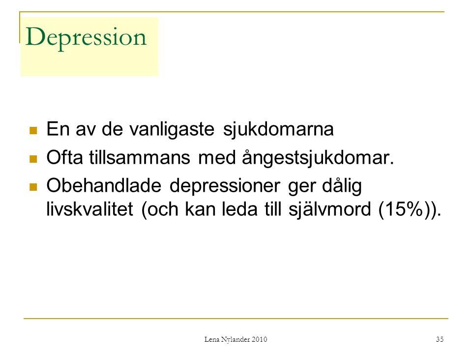 Depression En av de vanligaste sjukdomarna