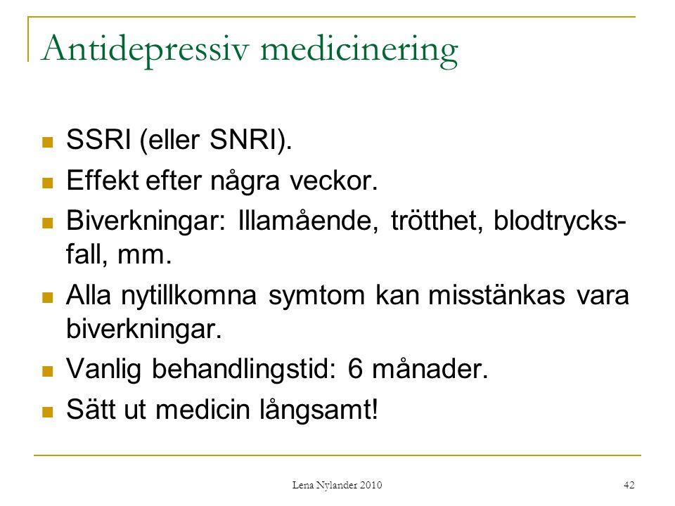 Antidepressiv medicinering