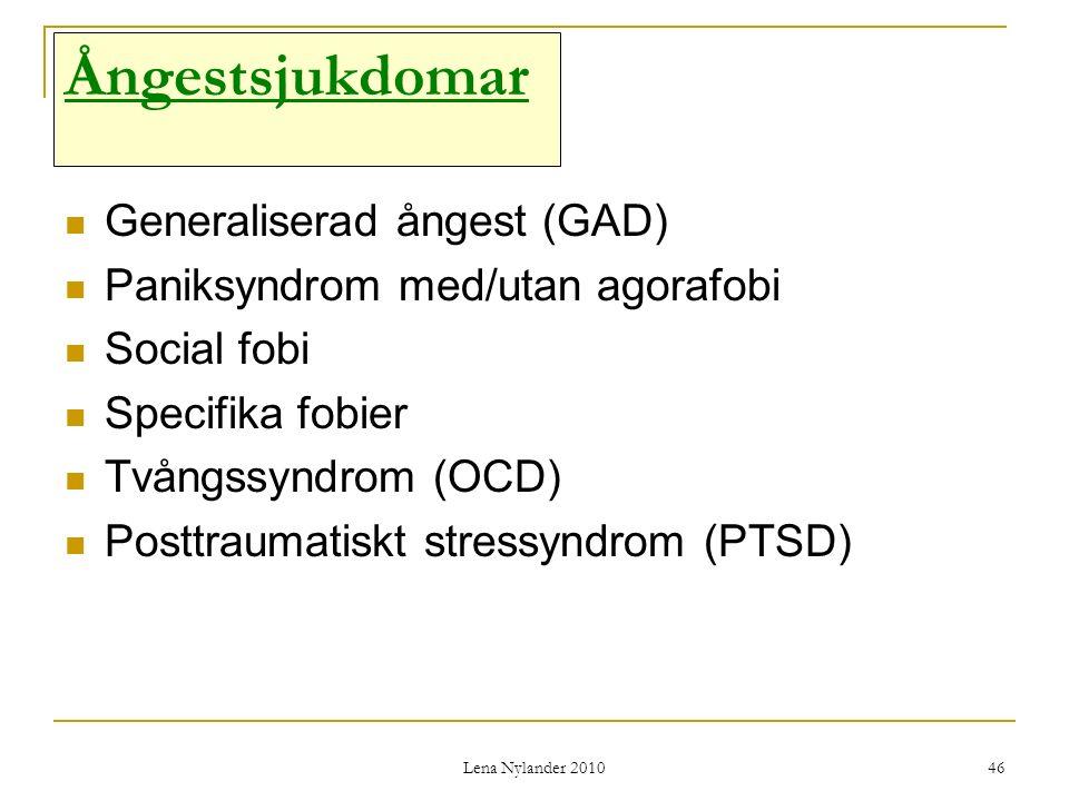 Ångestsjukdomar Generaliserad ångest (GAD)