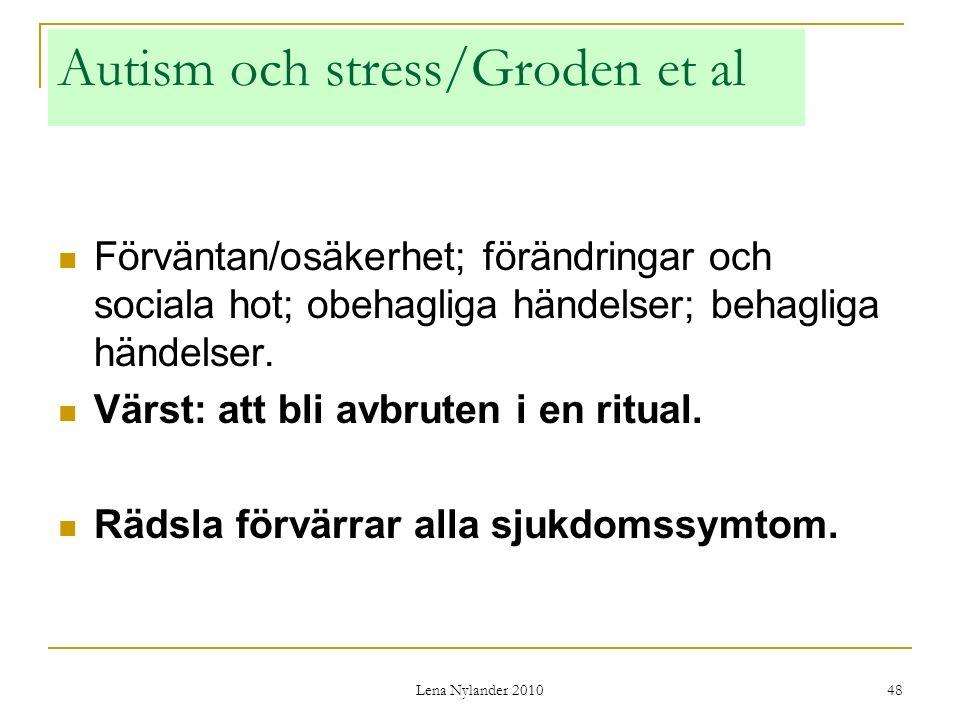 Autism och stress/Groden et al