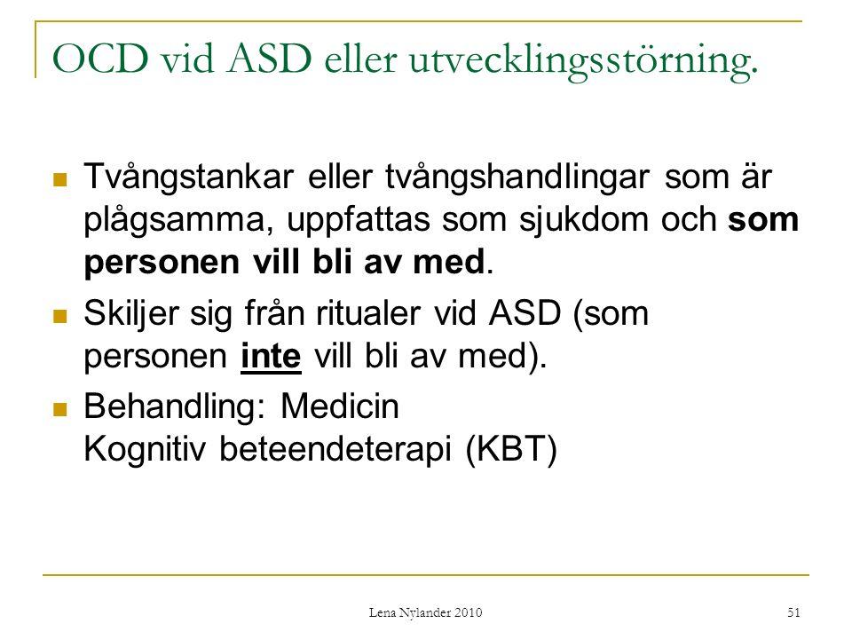 OCD vid ASD eller utvecklingsstörning.