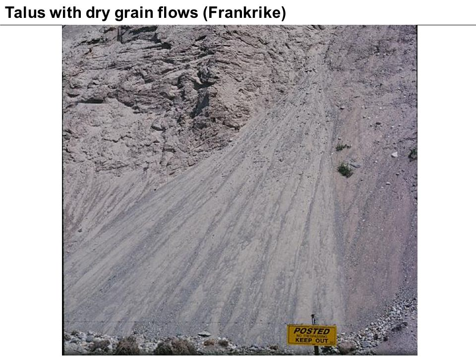Talus with dry grain flows (Frankrike)
