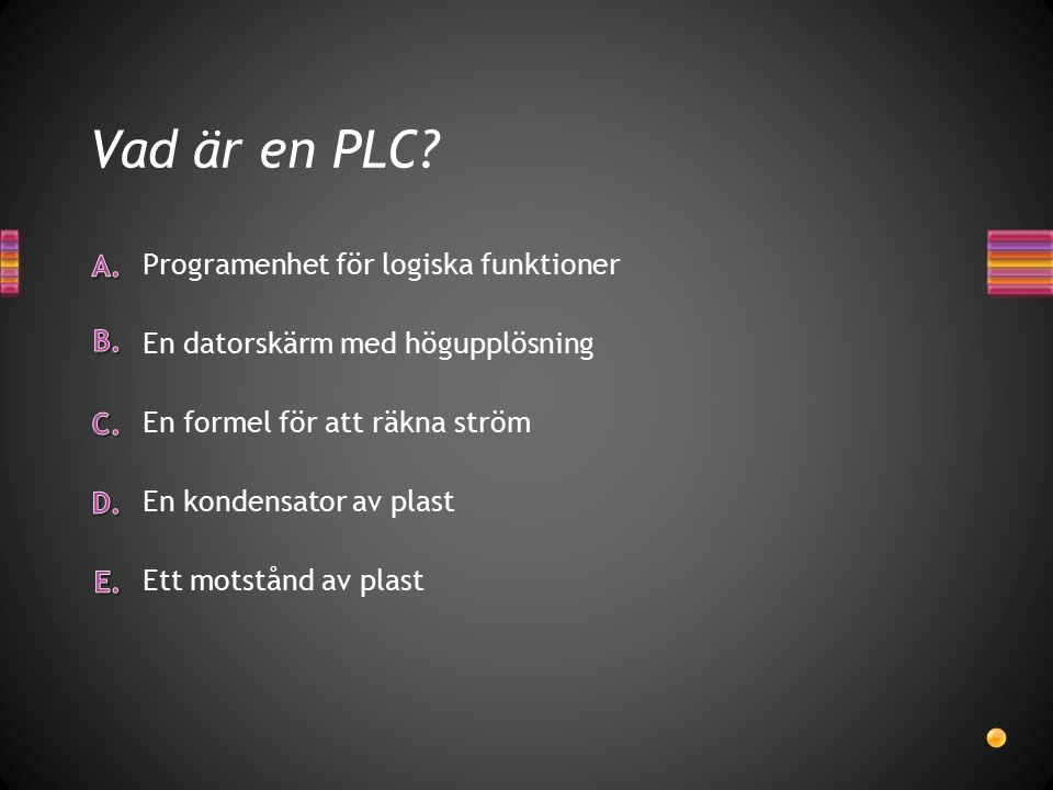 Vad är en PLC Programenhet för logiska funktioner
