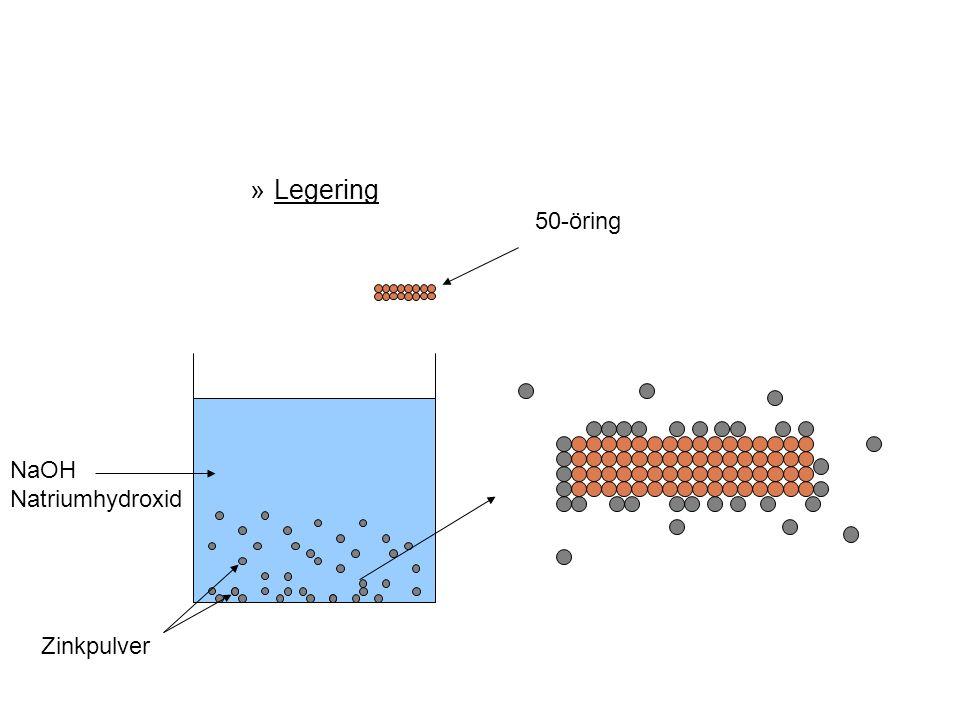 Legering 50-öring NaOH Natriumhydroxid Zinkpulver 21
