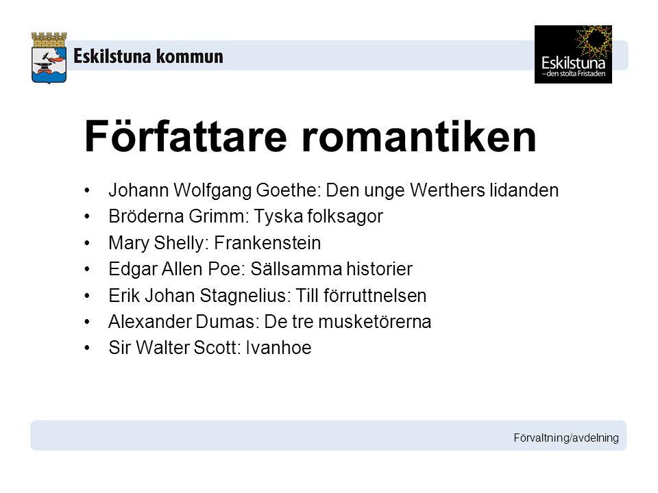 Författare romantiken