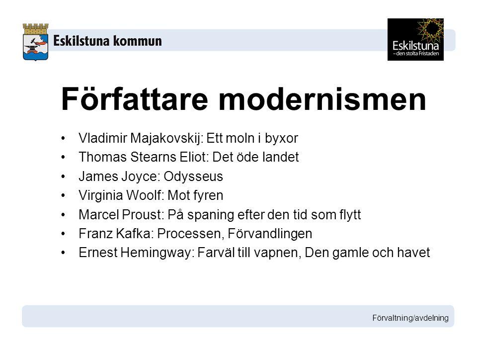 Författare modernismen