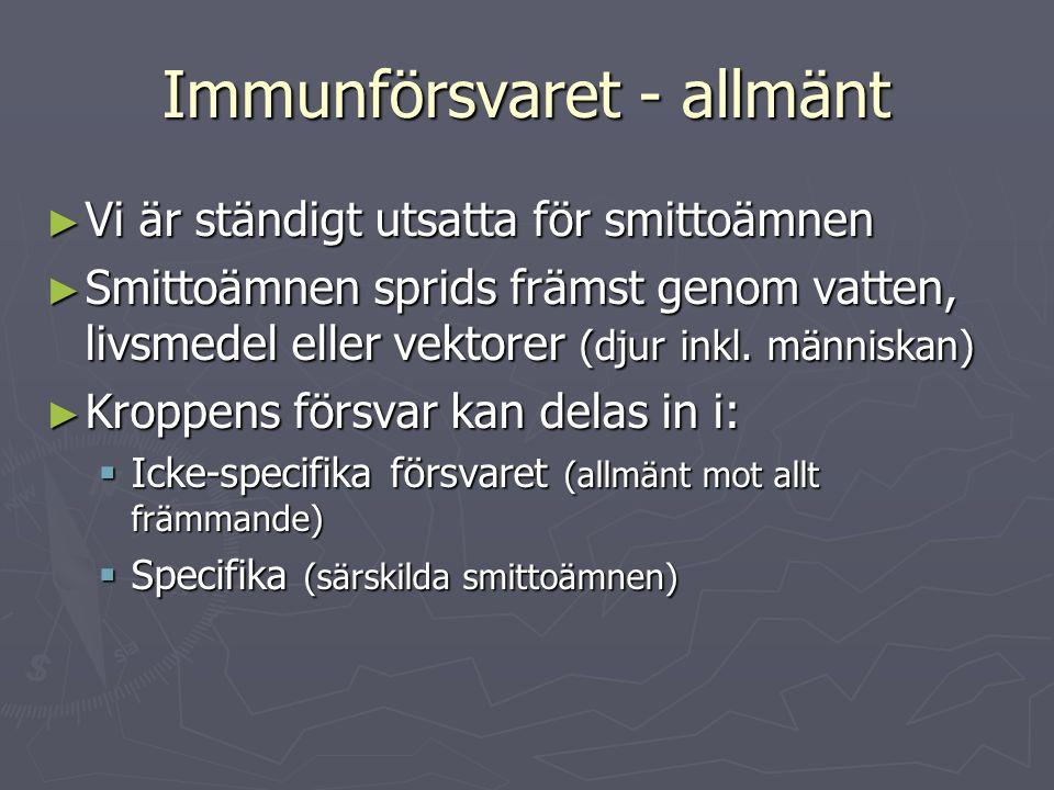 Immunförsvaret - allmänt
