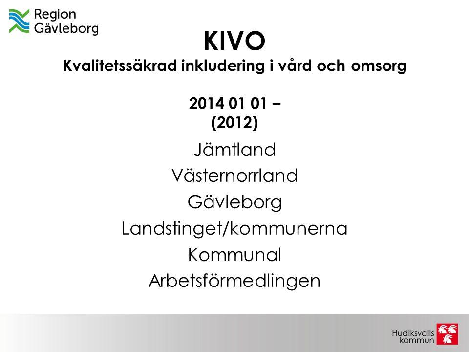 KIVO Kvalitetssäkrad inkludering i vård och omsorg 2014 01 01 – (2012)