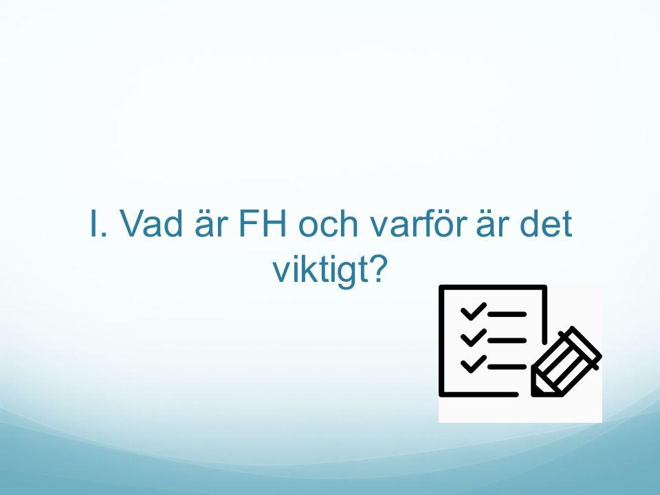 I. Vad är FH och varför är det viktigt