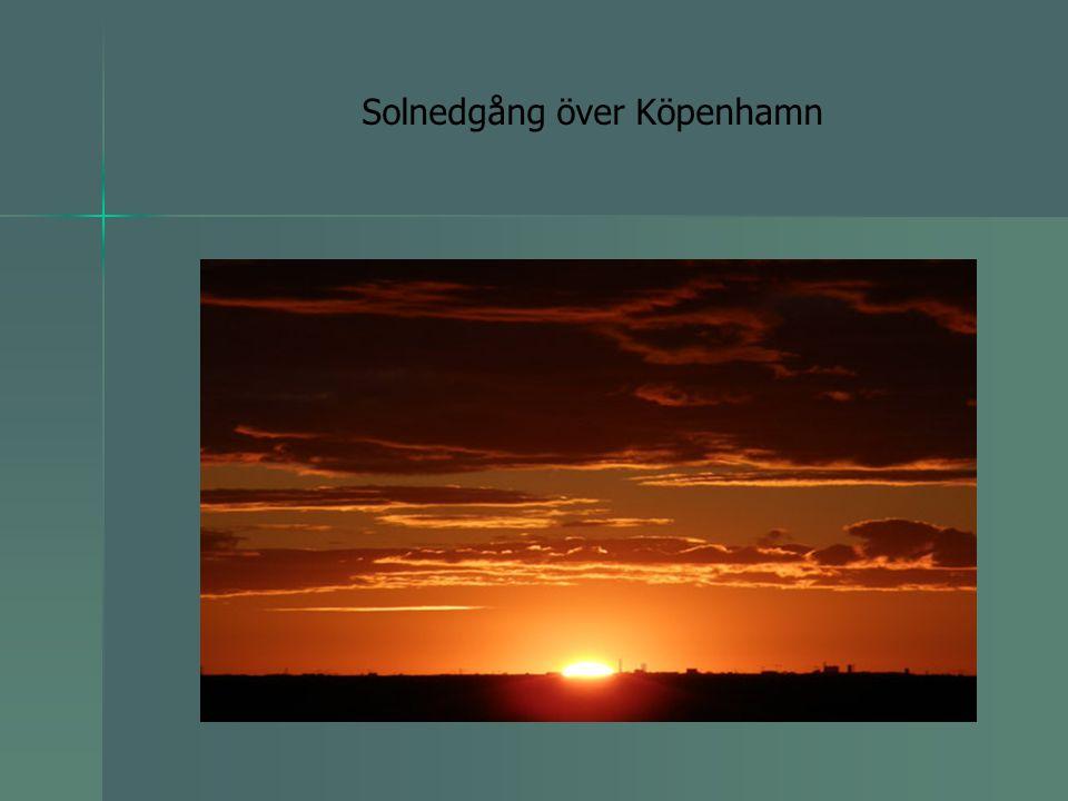 Solnedgång över Köpenhamn