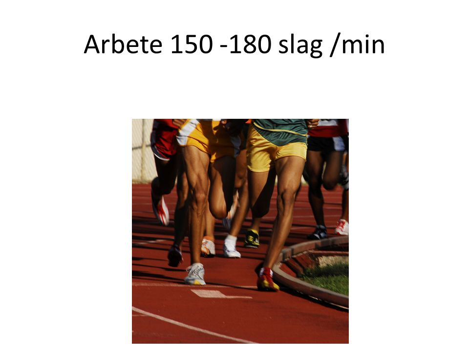 Arbete 150 -180 slag /min