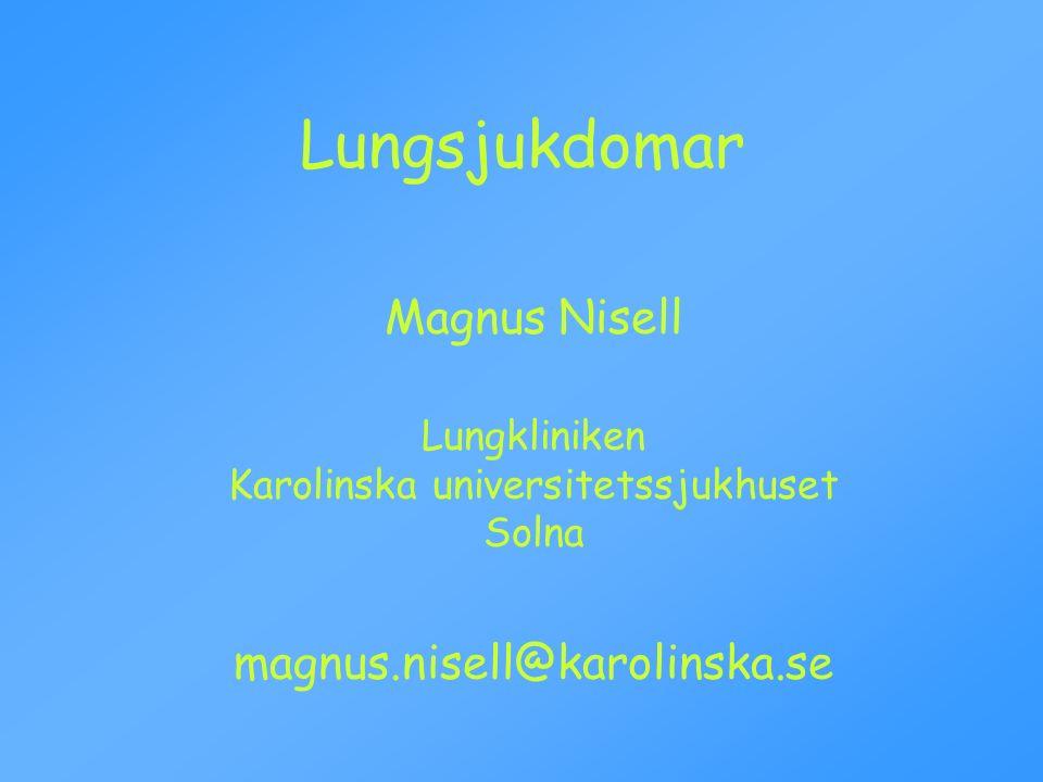 Lungkliniken Karolinska universitetssjukhuset Solna
