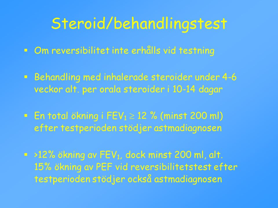 Steroid/behandlingstest