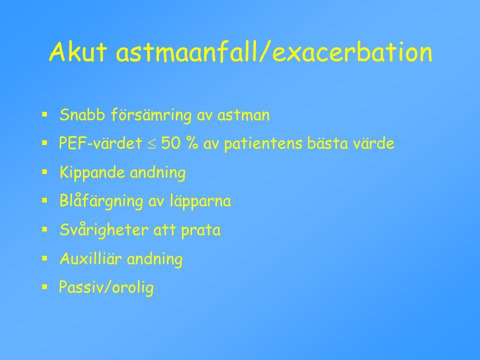 Akut astmaanfall/exacerbation
