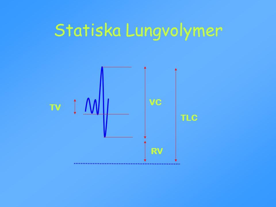 Statiska Lungvolymer VC TV TLC RV