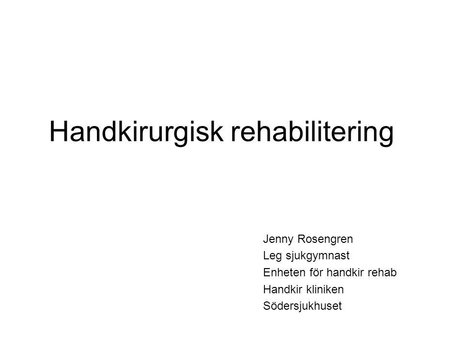 Handkirurgisk rehabilitering