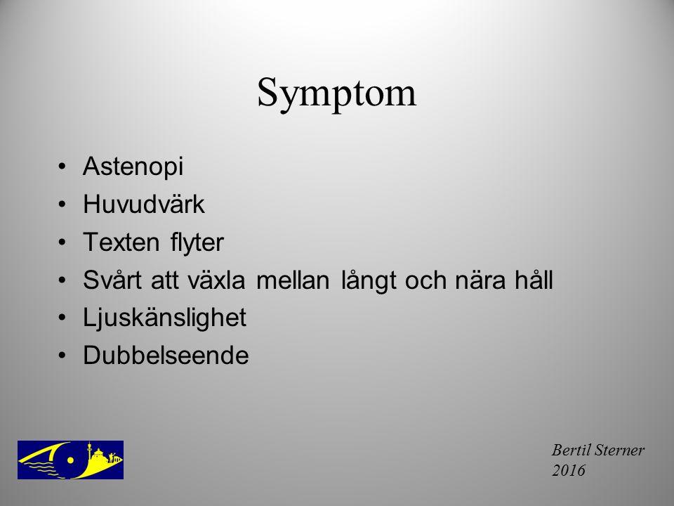Symptom Astenopi Huvudvärk Texten flyter