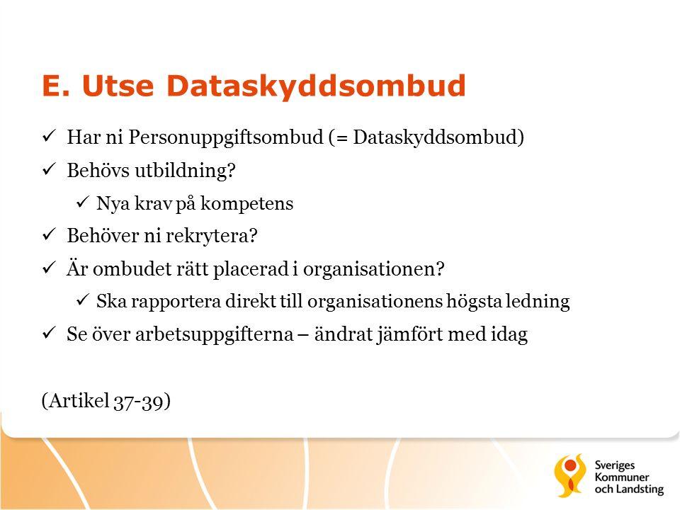 E. Utse Dataskyddsombud
