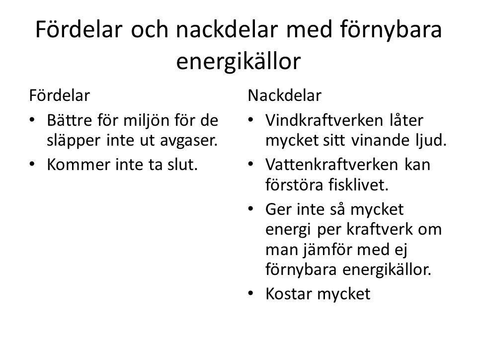 Fördelar och nackdelar med förnybara energikällor